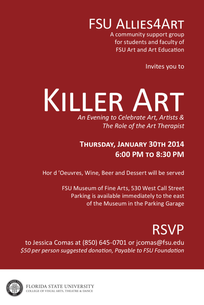KILLER ART: An Evening to Celebrate Art, Artists & The Role of the Art Therapist