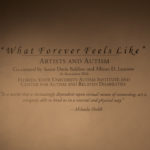 """Frontal shot of title """"What Forever Feels Like"""""""