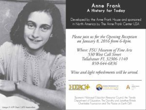 Anne Frank Reception 1-2016