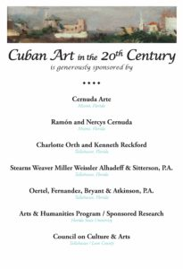 Sponsors Cuban Art