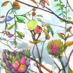 KAREN KRAMER, Garden of Time, 2014, mixed media, 30 x 22 inches