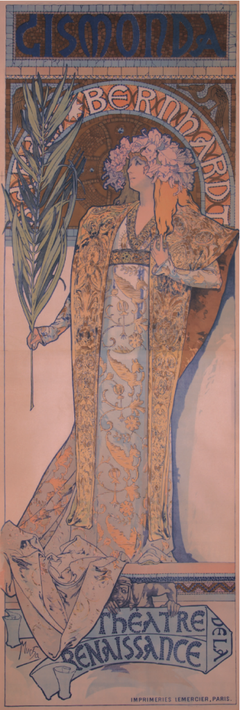 Alphonse Mucha, Gismonda, 1895, lithograph. Collection of Jack Rennert, New York.