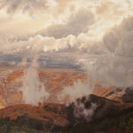 """Erika Osborne's oil on canvas painting The Chasm of Bingham in """"Broken Ground: New Directions in Land Art."""""""
