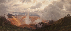 "Erika Osborne's oil on canvas painting The Chasm of Bingham in ""Broken Ground: New Directions in Land Art."""