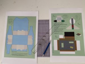 Print-outs, pencil, ruler.