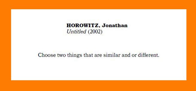 """""""Untitled"""" Jonathan Horowitz"""