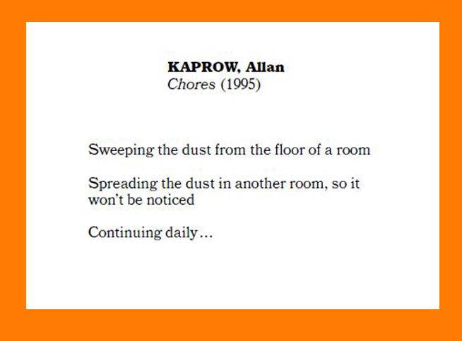 """""""Chores"""" Allan Kaprow"""