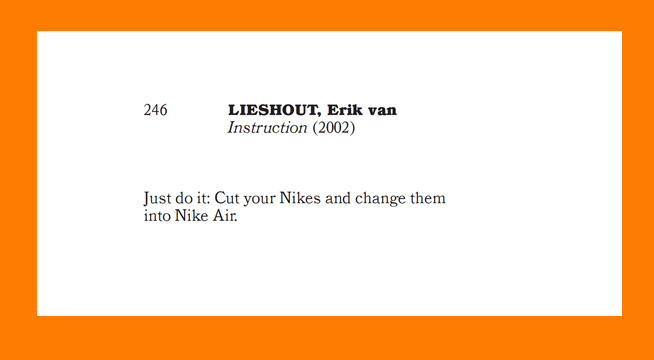 """Instruction"" Erik van Lieshout"